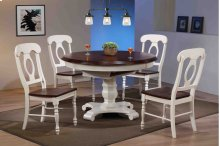 Sunset Trading 5 Piece Butterfly Leaf Dining Table Set with Napoleon Chairs - Sunset Trading