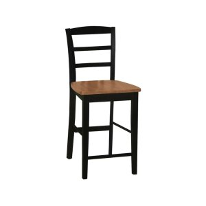 JOHN THOMAS FURNITUREMadrid Stool in Black & Cherry