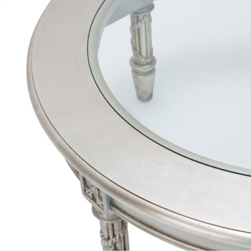 Giselle Round Cocktail Table Platinum