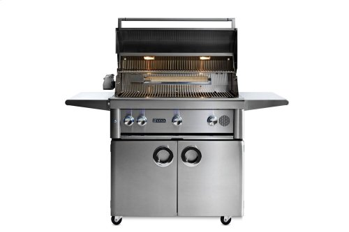 """36"""" Lynx Professional Freestanding Smart Grill with Rotisserie, NG"""