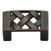 Lattice Knob 1 5/8 Inch - Venetian Bronze