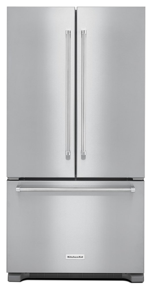 Kitchenaid22 Cu. Ft. 36-Inch Width Counter Depth French Door Refrigerator With Interior Dispense - Stainless Steel