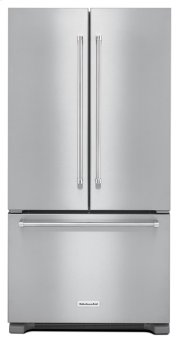 22 cu. ft. 36-Inch Width Counter Depth French Door Refrigerator with Interior Dispense - Stainless Steel Product Image
