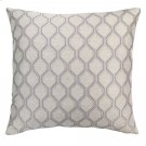 Andante Contemporary Decorative Feather and Down Throw Pillow In Platinum Jacquard Fabric Product Image