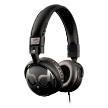 Black and Dark Chrome over-the-head headphones by Bell'O Digital