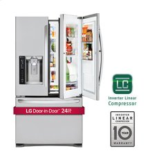 CLOSEOUT - 24 cu. ft. Large Capacity 3-Door French Door Refrigerator w/ Door-in-Door®