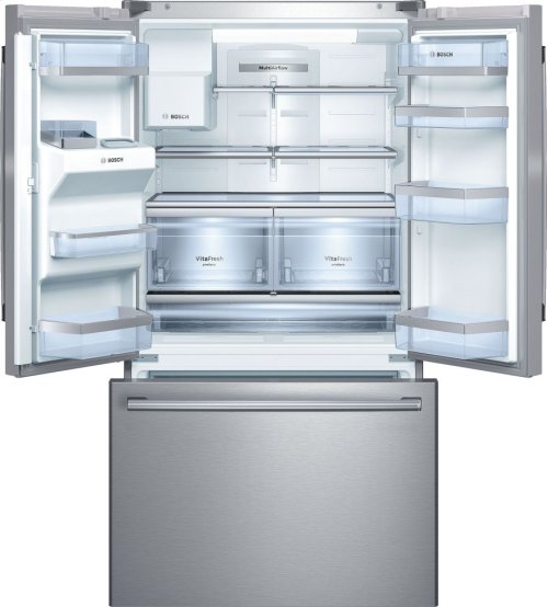 "Serie  8 36"" Standard Depth French Door Bottom-Freezer 800 Series - Stainless Steel B26FT70SNS"