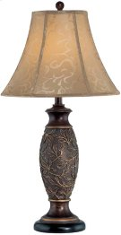 Table Lamp - Dark Bronze/jacquard Fabric Shade, Type A 150w Product Image