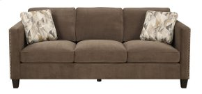 Emerald Home Focus U4286m-00-25 Sofa W/2 Accent Pillows Chocolate U4286m-00-25
