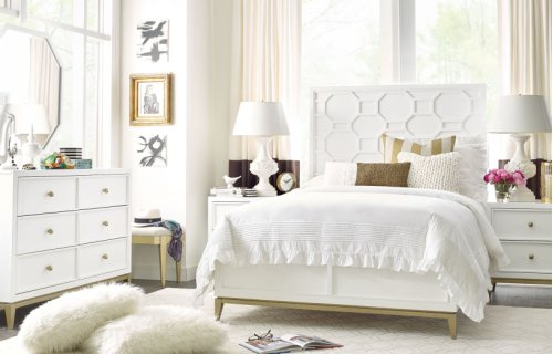 Chelsea by Rachael Ray Panel Bed Complete Full, 4/6