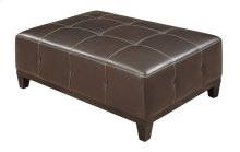 Cocktail Ottoman Walnut Brown Pu