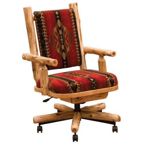 Upholstered Executive Chair - Natural Cedar - Customer Fabric