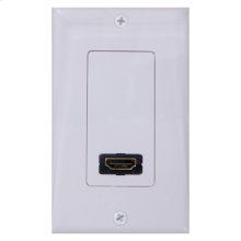 Single HDMI/coax wall plate