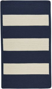 Cabana Stripes Navy Blue White