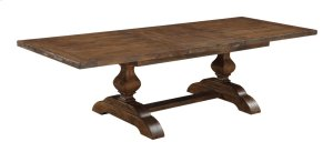 "Emerald Home Chambers Bay Dining Table Top W/28"" Butterfly Leaf & Base Pine-hand Scraped Antique D312-10-k"