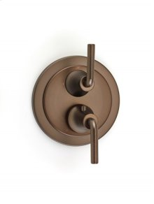 Taos Dual-control Thermostatic Valve with Volume Control and Diverter Trim - Bronze