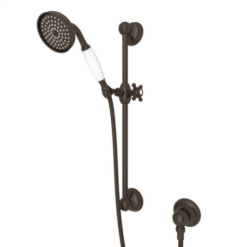 Tuscan Brass Single-Function Anti-Cal Handshower/Hose/Bar/Outlet Set