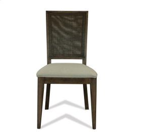 Joelle Woven Side Chair Carbon Gray finish