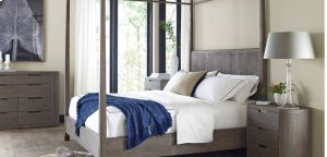 Palmer Canopy Driftwood Cal King Bed