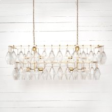 Gold Leaf Finish Adeline Rectangular Chandelier