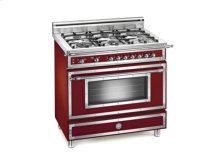 Matt-burgundy 36 Six-Burner Gas Range