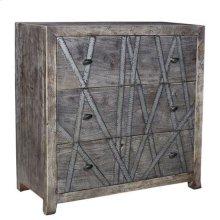 Bengal Manor Mango Wood 3 Drawer Chest w/ Metal Strip Detail