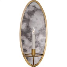 Visual Comfort NW2110HAB Niermann Weeks Regent 1 Light 8 inch Hand-Rubbed Antique Brass with Antique Mirror Sconce Wall Light, Niermann Weeks, Oval