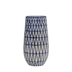 Fenced Blue/white Vase