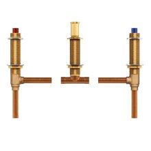 "two handle roman tub valve adjustable 1/2"" cc connection"