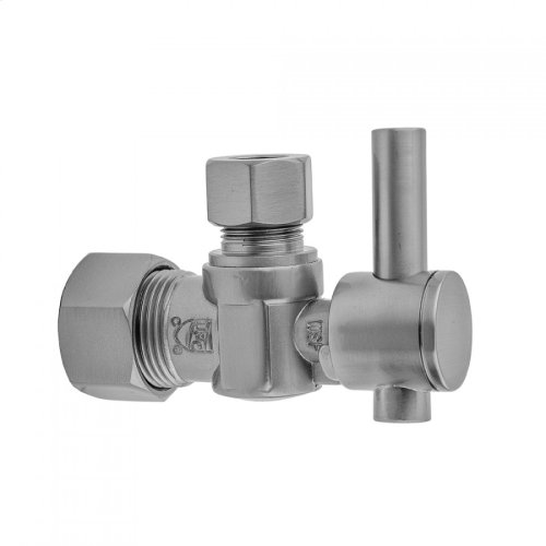 """Europa Bronze - Quarter Turn Angle Pattern 5/8"""" O.D. Compression (FITS 1/2"""" Copper) x 3/8"""" O.D. Supply Valve with Contempo Lever Handle"""