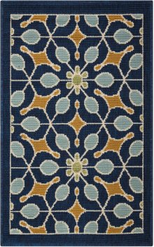 Caribbean Crb07 Nav Rectangle Rug 1'9'' X 2'9''