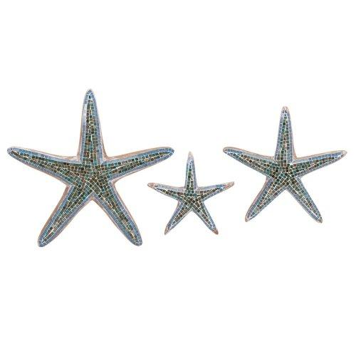 Mosaic Star Fish Wall Decor - Set of 3
