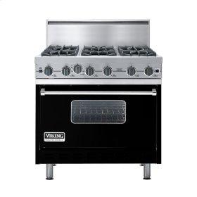 "Black 36"" Open Burner Commercial Depth Range - VGRC (36"" wide, six burners)"