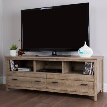 TV Stand with Storage - Fits TVs Up to 60'' Wide - Weathered Oak