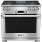 36 inch range All Gas with DirectSelect, Twin convection fans and M Pro dual stacked burners