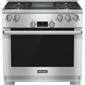 Miele36 inch range All Gas with DirectSelect, Twin convection fans and M Pro dual stacked burners