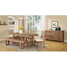 Elmwood Rustic Six-piece Dining Table