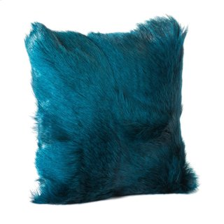 Goat Fur Pillow Teal