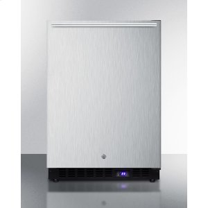 SummitFrost-free Outdoor All-freezer In Complete Stainless Steel, With Icemaker, Digital Thermostat, Horizontal Handle, and Lock; Built-in or Freestanding Use