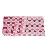 Knit Multi Pink Dot Blanket. Product Image