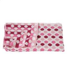 Knit Multi Pink Dot Blanket.