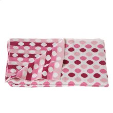 Knit Multi Pink Dot Blanket.