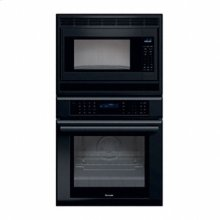 "27"" MASTERPIECE SERIES BLACK COMBINATION OVEN WITH A MICROWAVE AND TRUE CONVECTION OVEN"