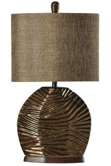 Ceramic Lamp Glazed in Padova Designer Fabric Shade