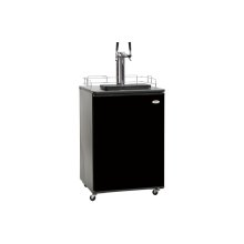 Dual Tap Kegerator Beer Dispenser in Black