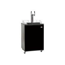Dual Tap Kegerator Beer Dispenser in Black