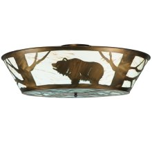 """47""""W Grizzly Bear on the Loose LED Flushmount"""