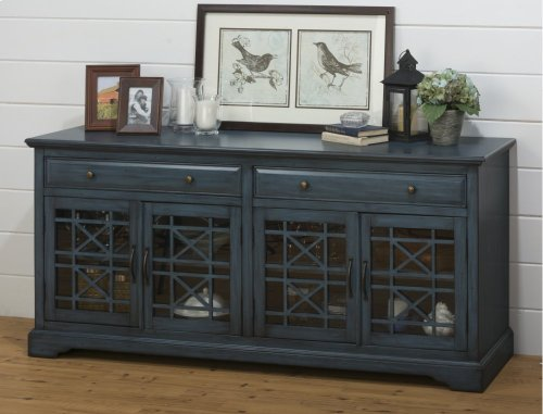 "Craftsman Antique Blue 70"" Media Unit"