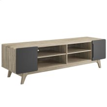 """Tread 70"""" Media Console TV Stand in Natural Gray"""