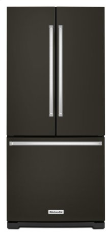 20 cu. Ft. 30-Inch Width Standard Depth French Door Refrigerator with Interior Dispense - Black Stainless